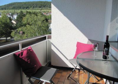 Balkon mit Blick auf den Ochsenberg